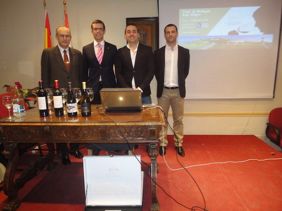 cata de vinos de Bodegas Luis Alegre