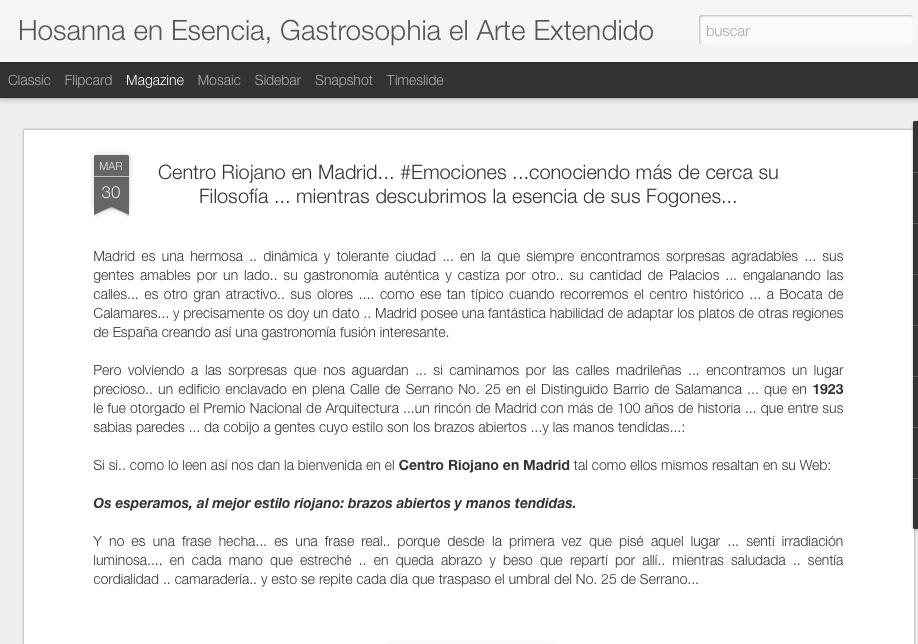 Artículo sobre el Centro Riojano de Madrid