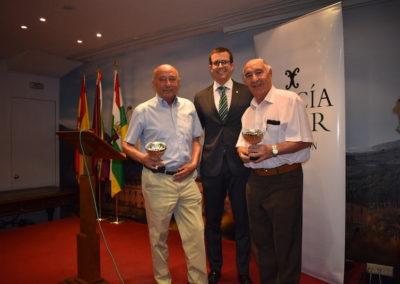 Ganadores del Torneo de Mus. Los campeones D.  Carlos Dominguez y D.  Fernando Dominguez  y los Subcampeones D. Julian Martínez y D. Carlos Valls