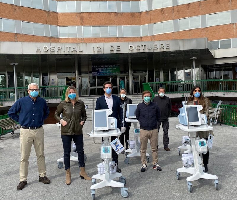 José Antonio Rupérez participa en la donación a Madrid de cinco respiradores